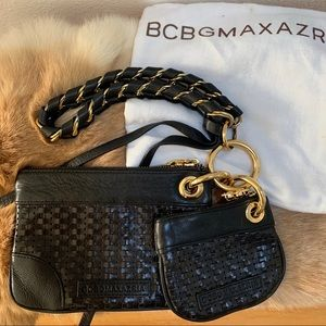 BCBG Maxazria leather wristlet